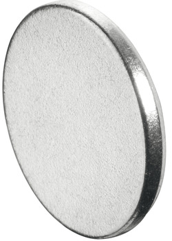 Counterplate, For magnetic catch, round