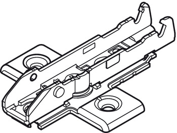 Cruciform mounting plate, For Tiomos, for screw fixing with chipboard screws