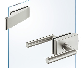 Glass door fitting set, GHR 302, Startec, with 2-piece hinges