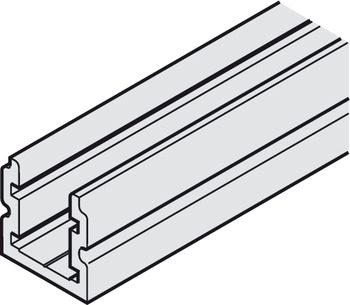 Guide rail, Not drilled, 24 x 24 mm