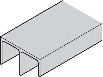 Guide track, Top, non-perforated