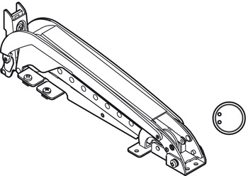Door opening mechanism, Swingfront 17 FB, for wooden doors
