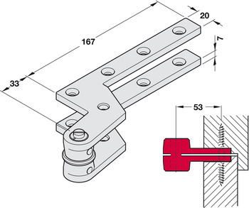 Pivot hinge, For single action doors, Geze