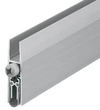 Retractable door seal, Schall-Ex GS-H, Schall-Ex Duo GS-H, Athmer, silver coloured anodized
