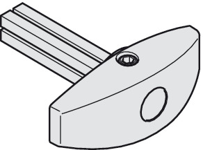 Rotary handle, With square pin