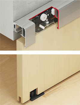 Sliding door fitting, Slido Classic 40-P to 120-P
