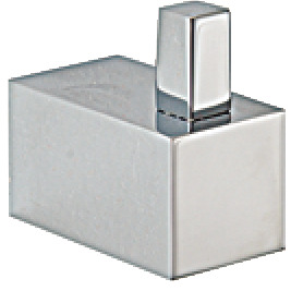 Towel hook, chrome plated polished, square series