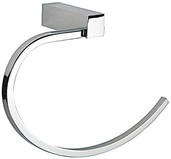 Towel rail, chrome plated polished, square series