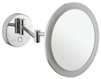 Vanity mirror, With 5x magnification, round